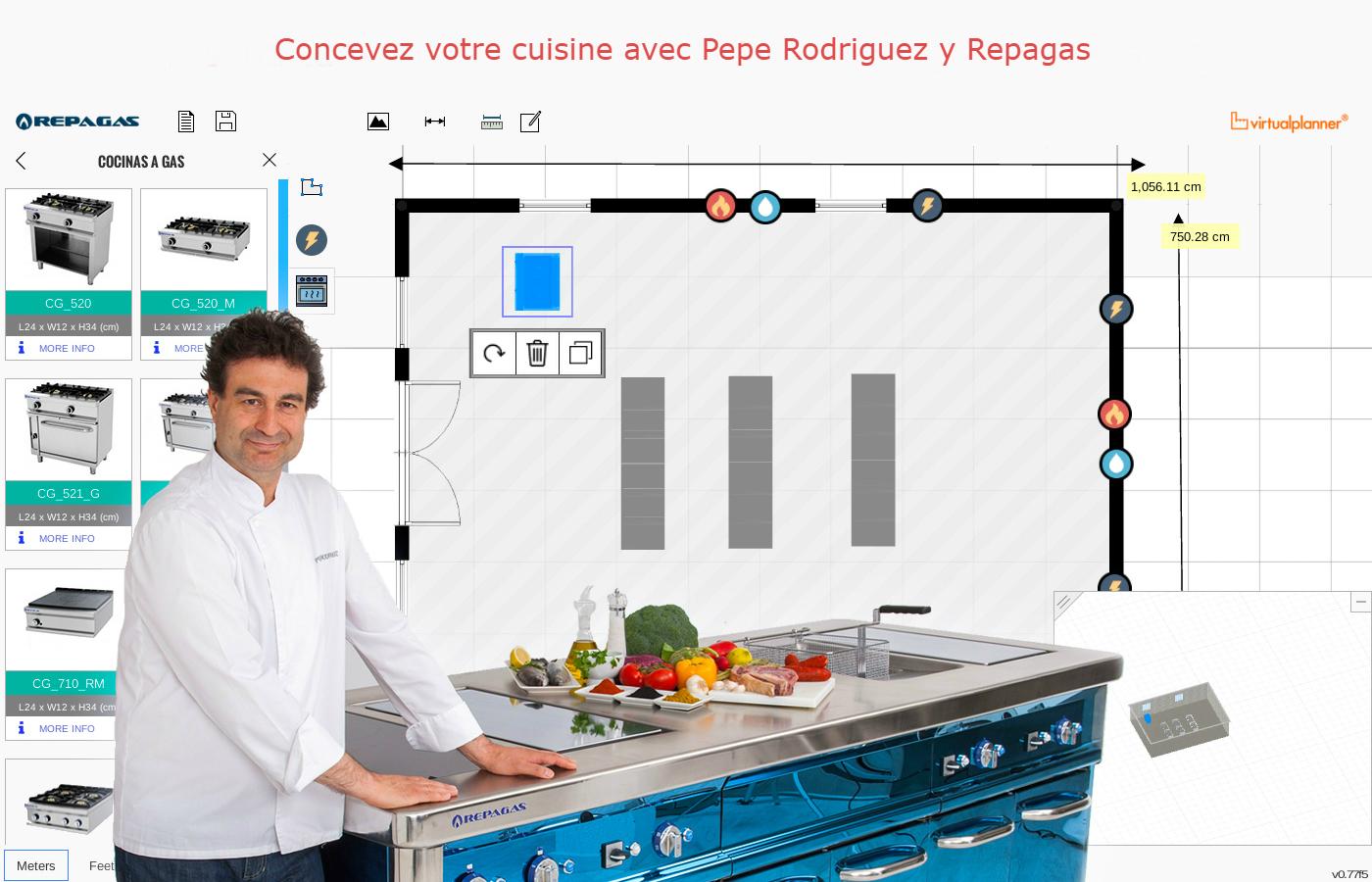 concepteur de cuisines repagas concevez votre cuisine ideal. Black Bedroom Furniture Sets. Home Design Ideas