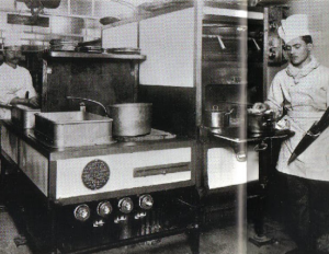 cocina modular del titanic diseñada por escoffier